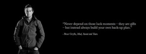 Facebook Cover Of Bear Grylls Quote.