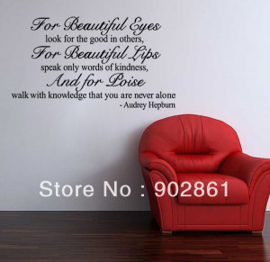 funlife-54x96cm-Audrey-Hepburn-wall-Quote-saying-for-beautiful-eyes ...