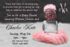 poem wording baby shower invitations for a girl