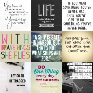 Quotes about getting out of your comfort zone