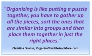 Quote from Organize Your Life and More