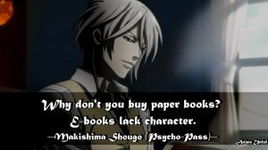 Psycho Pass Makishima Quotes