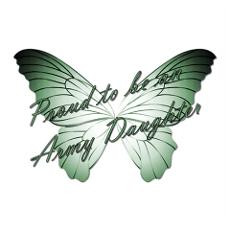 Proud Army Daughter Butterfly Poster