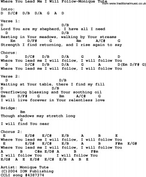 Gospel Song Where You Lead...