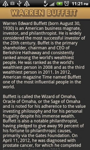 warren buffett quotes says app is a complete collection of all quotes ...