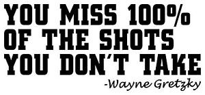 Details about WAYNE GRETZKY QUOTE WALL DECAL STICKER HOCKEY WORDS NHL