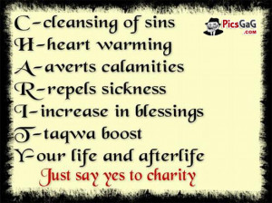 What is Charity Meaning To Know What is Charity in Islam Quote Picture