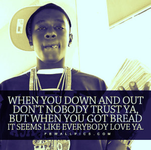 Lil Boosie Down And Out Quote Picture