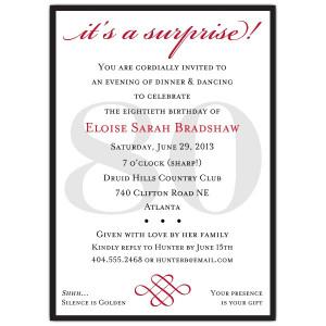 invitations birthday invitations milestone invitations 80th birthday ...