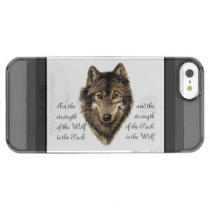 Watercolor Wolf Pack Family Strength Quote Uncommon Clearly ...