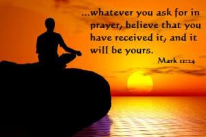 Believe when you Pray, Prayer Quote, Prayer, Christian