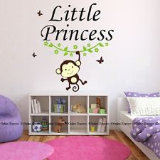 Includes: Quote Cute Monkey with Branch. Little Princess Deluxe Wall ...