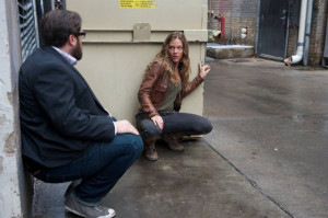 Still of Zak Orth and Tracy Spiridakos in Revolution (2012)
