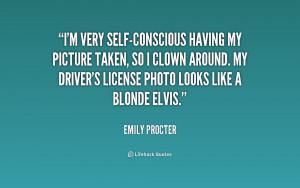 Self Conscious Quotes