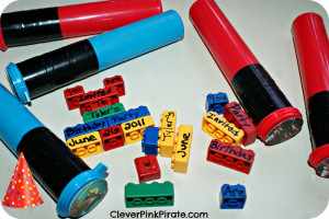 Lego Star Wars Party Invites with Legos and upcycled M&M tubes! An ...