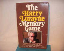 The HARRY LORAYNE Memory Game 1976 by Reiss ...