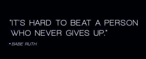 will NEVER give up!!!!!