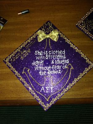 AST / JMT decorated graduation cap grad hat commencement purple design ...