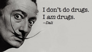 dali, drugs, funny, mustage, scary