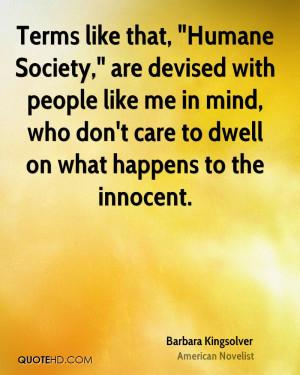 Barbara Kingsolver Society Quotes