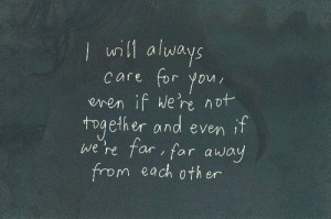 Even if we are far apart from each other!