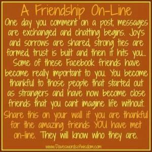 Online friendship