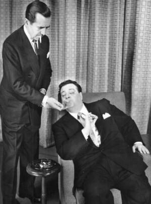Jackie Gleason and Edward R. Murrow when Gleason was the subject of ...