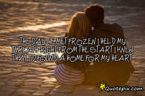 day we met frozen i held my breath right from the start i knew