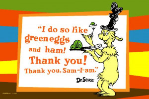 Green Eggs and Ham with quote, 20 x 30 Poster Print