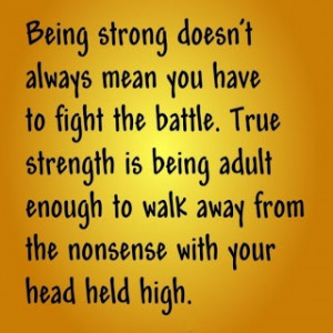 Positive Inspirational Quotes: Being strong doesn't always... | Quotes