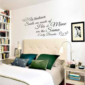 Whatever souls are made of Emily Bronte Vinyl Wall Lettering
