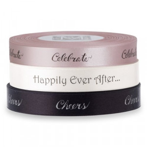 Midori Double Faced Satin Sayings Ribbons