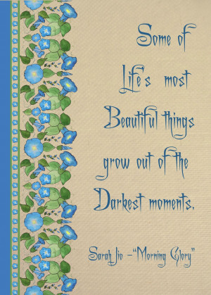 Morning Glory Illustrated Quotation