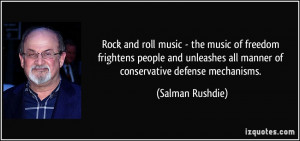 Rock and roll music - the music of freedom frightens people and ...