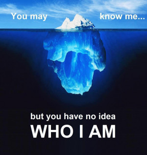 You may know me... but you have no idea WHO I AM - Positive ...