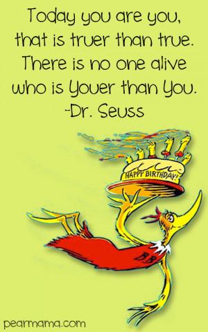 Dr. Seuss: Happy Birthday to you! Printable