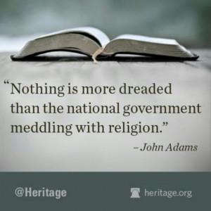 state n religion John Adams