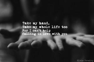 "Take my hand…"""