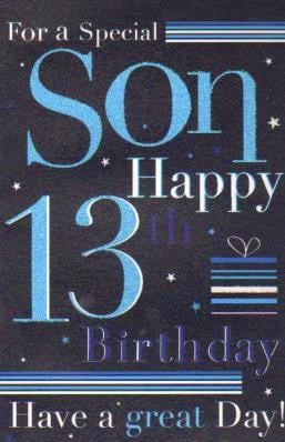 13th Birthday Quotes For Son. QuotesGram