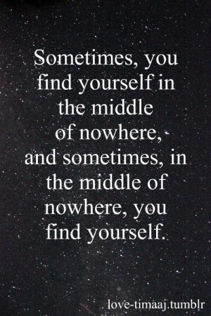 find yourself So much truth.