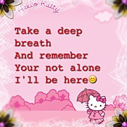 textgram #hellokitty #cute #quote Print by Samantha Little