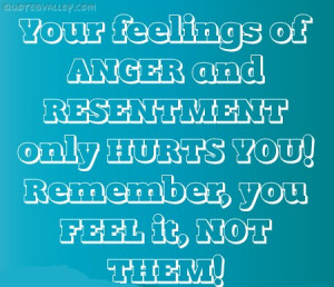 Your Feelings Of Anger And Resentment