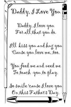 Daddy, I love you: free short poem from daughter to father for happy ...