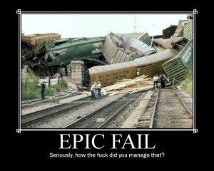 IMO this has to be the best Epic Fail ever! (Or should that be the ...