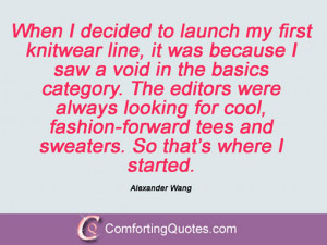 Alexander Wang Quotations