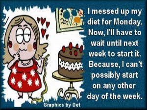 messed up my diet for Monday....