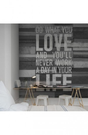 Designtapet Quotes, Wood wall