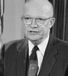 President Dwight D. Eisenhower is shown during his farewell television ...