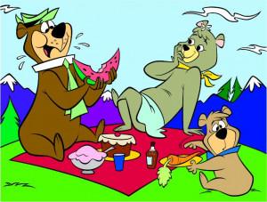 Yogi Bear and friends on a picnic, Hanna-Barbera