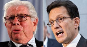 Carl Bernstein (left) and Eric Cantor are shown in this composite ...